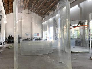 zakřivená lucite akrylová plexi skleněná deska pro oceánské akvárium