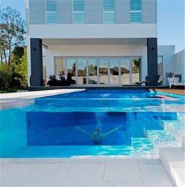 Přizpůsobený průhledný akrylový plexisklý plechový panel pro bazén