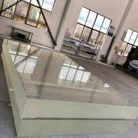 Průhledný čirý akrylový plech odlévá tlustý plastový stěnový panel