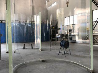 vysoce kvalitní velké akrylové zakřivené panely skleněných tabulek s akvarijním vzorem
